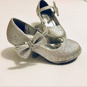 Little Angel Girls Glitter Silver High Heels